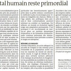 Investir no Capital Humano Permanece Primordial – Le Monde 13/10/2016